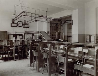 Göteborg. Interiör från telegramrummet. År 1931.