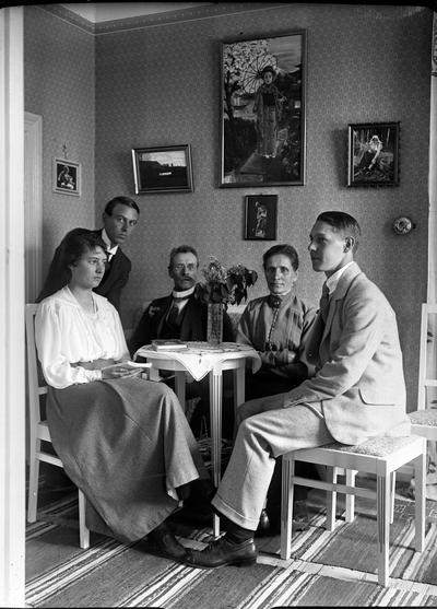 John Liedholms glasplåtssamling. Familjen.