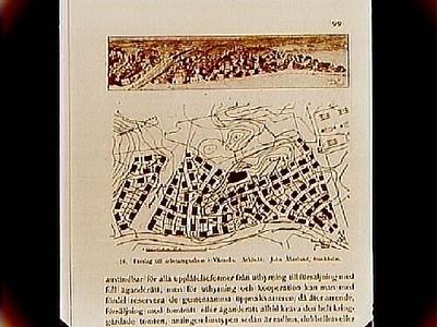Förslag till arbetaregnahem i Västerås. Arkitekt John Åkerlund, Stockholm. Beställt av stadsarkitekt Edvin Stenfors, Järntorgsgatan 7, Örebro.