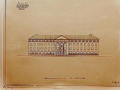 Förslag till Nämndhuset, ritningar. Arkitekt Arn