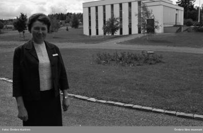 Kurorten Nyhyttan 5 juli 1969 Husmor Indeborg Stagling, sjundedagsadventisternas vårdanläggning