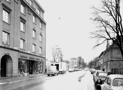 Bostadshus och byggnader. White Arkitektkontor AB. Kungsgatan norrut mellan Nygatan och Stortorget.