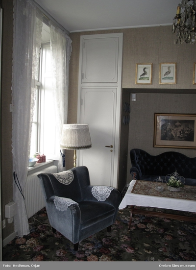 Inventering av Karlslunds byggnader. Corps de logiet, interiört. Sovrum på bottenvåningen. Dnr: 2011.250.050