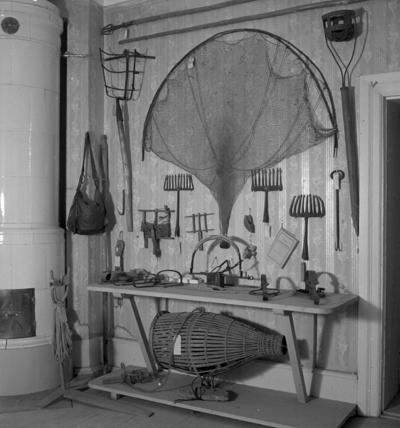 Laxå bruksmuseum, interiör. 20 september 1943.
