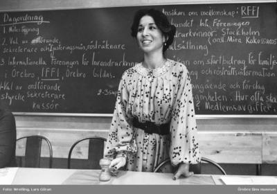 Invandrarkvinna som ordförande i IFFI. Güler Sagirbay, initiativtagare född i Turkiet.