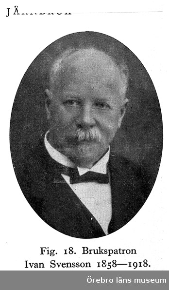 Skogaholms herrgård. Brukspatron Ivan Svensson 1858-1918.