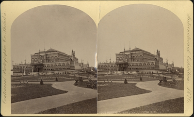 Stereobild, Horticultural Hall, Centennial International Exhibition 1876.