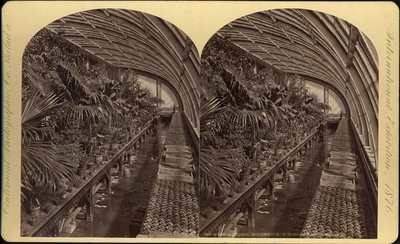 Stereobild, Horticultural Buildning, Centennial International Exhibition 1876.