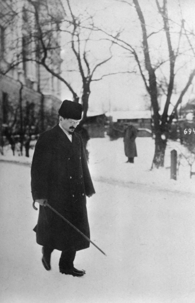 Första världskriget. Rysslands ombud Leo Trotskij.
