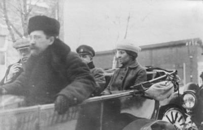 Första världskriget. Den enda kvinnliga deltagare i fredsförhanlingarna.