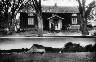 Gate, Gäsene Eriksberg. Oskar Olssons mor o far, syster o farfar.