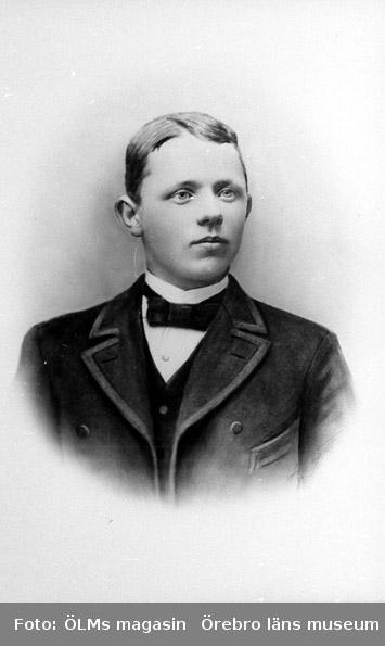 Grosshandlare August Heribert Israelsson (1876 -1968) som ung.