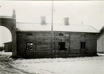 Åblads gamla hus, inför rivningen.
