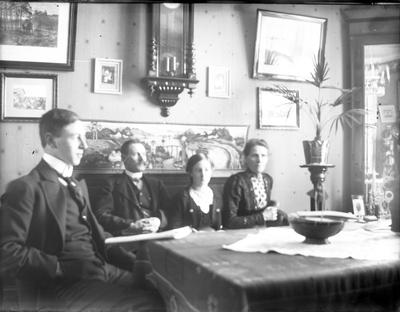 John Liedholms glasplåtssamling. Familjen Liedholm.