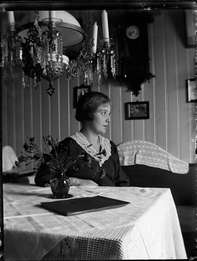 John Liedholms glasplåtssamling. Effie Liedholm.