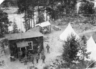 Gränspostering från första världskriget.