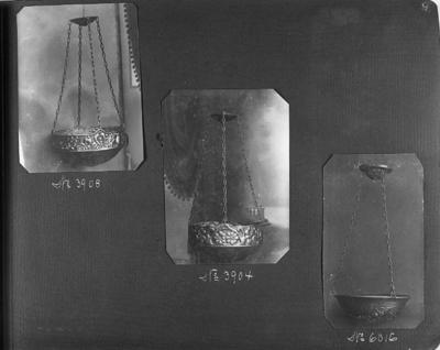 Ur katalog över Harald Linders produktion, Föremålen märkta från vänster: 6017, 6025, 6024