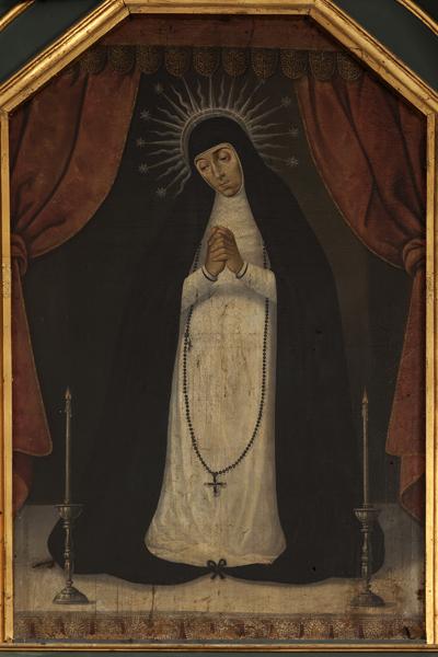 Ntra. Sra. de la Paloma. Detalle del Retablo del Stamo Cristo de los Milagros. Óleo. S. XVIII