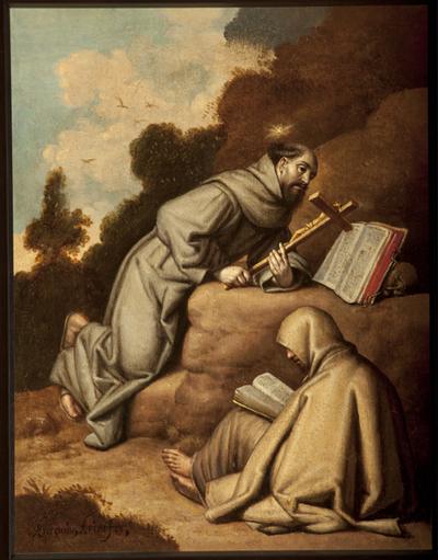 S. Francisco de Asís con el hermano León