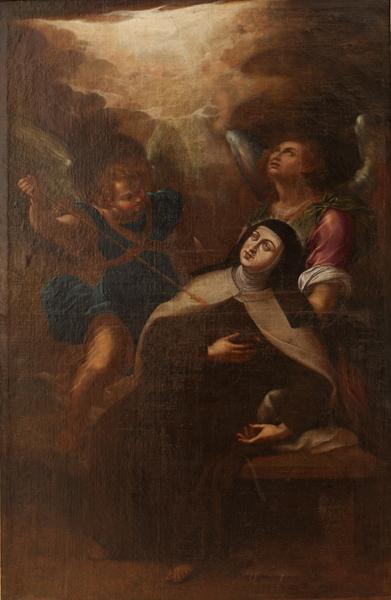 Transverberación de Sta. Teresa. Anónimo.Óleo. S. XVII