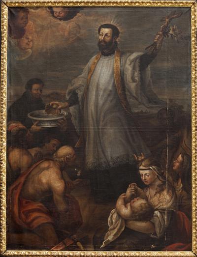 S. Francisco Javier bautizando