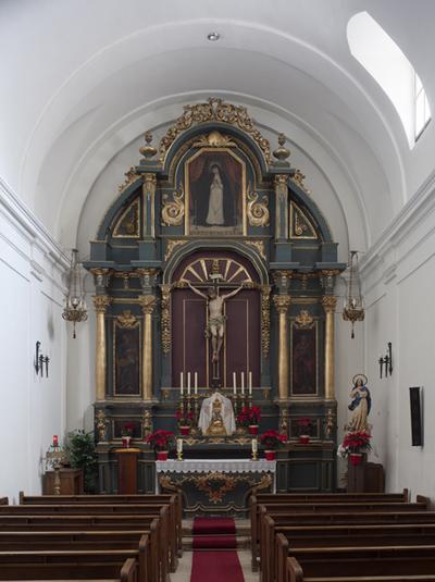 Retablo del Stmo. Cristo de los Milagros y bóbeda. S. XVIII
