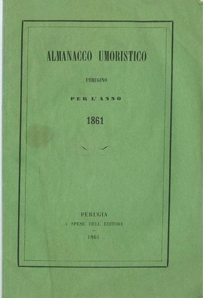 Almanacco umoristico per l' anno 1861