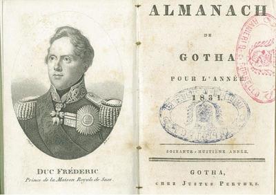 Almanach de Gotha pour l'année 1831