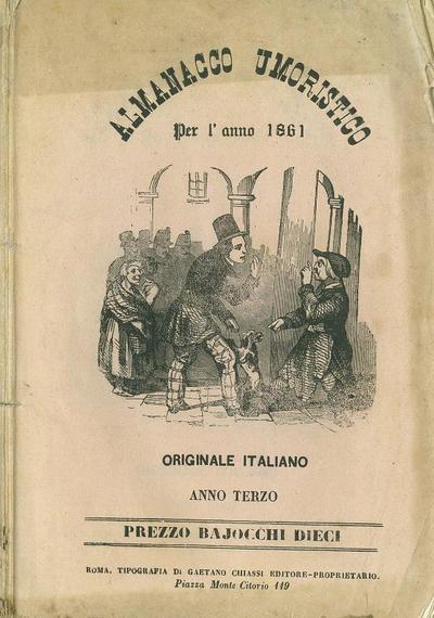 Almanacco umoristico per l'anno 1861 : originale italiano