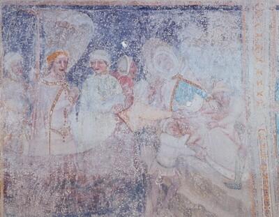 Aussetzung der toten Fürstin und ihres Kindes auf einem Fels