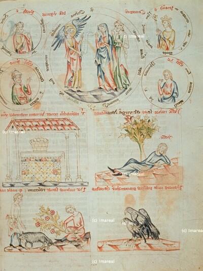 Die goldene Urne voller Manna auf dem Altar im Tempel