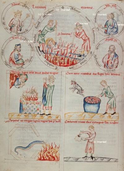 Tobias legt die Fischleber auf den Rost und vertreibt so den Teufel