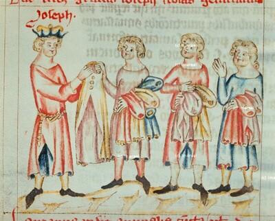 Josef verteilt Kleider an seine Brüder
