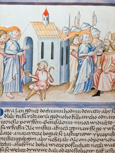 Hl. Petrus und Hl. Johannes Evangelist vor dem Hohen Rat