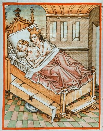 Ruben schläft mit Bilha, der Nebenfrau seines Vaters Jakob
