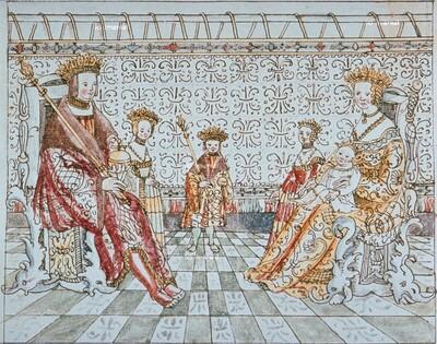 Kaiser Maximilian I. im Kreise seiner Familie