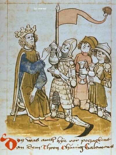 Drei Helden bringen David Wasser aus der Zisterne von Bethlehem