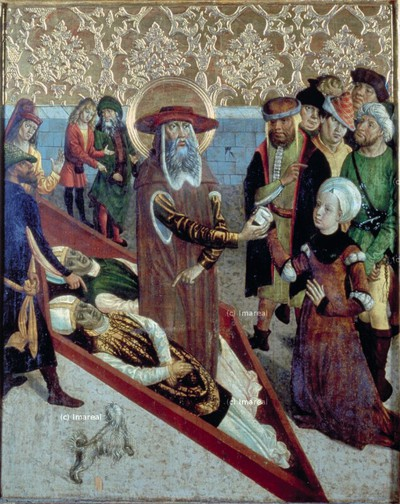 Kurtisane erhält am Grab des Hl. Johannes des Almosenspenders ihr Sündenregister getilgt zurück