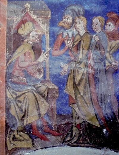 Fabricius überredet die Schwestern der Hl. Dorothea zum Abfall vom christlichen Glauben