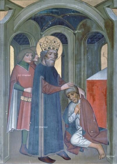 Hl. Stephan von Ungarn begnadigt den Mörder