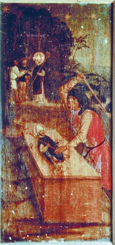 Jude übergibt seine Schätze der Statue des Hl. Nikolaus