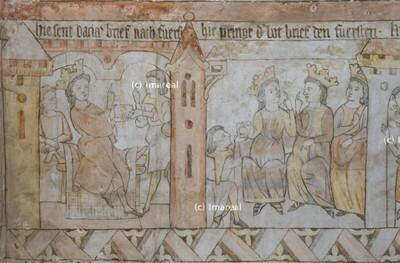 Der Bote bringt den Brief den drei Fürsten