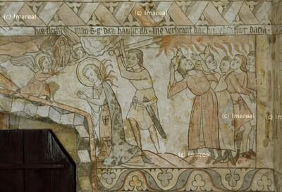 Himmlisches Feuer verbrennt König Dacian und Gefolge