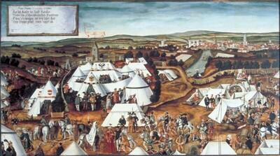 Zeltlager Kaiser Karls V. vor Lauingen im Jahre 1546