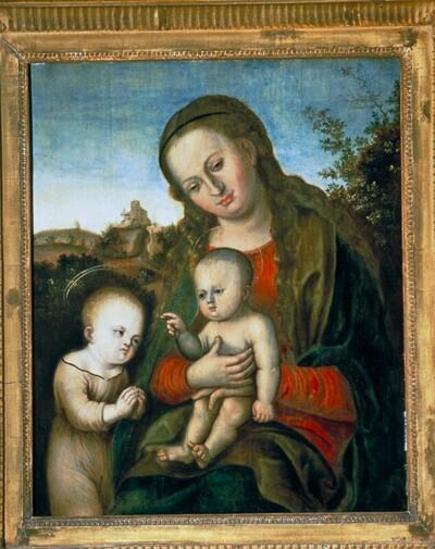 Hl. Maria mit Kind und Hl. Johannes der Täufer