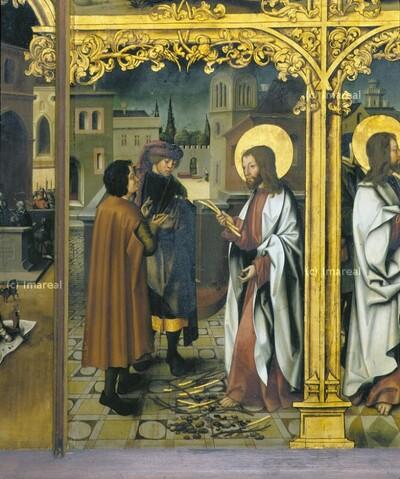 Verwandlung von Gerten und Kiesel in Gold durch den Hl. Johannes Evangelist