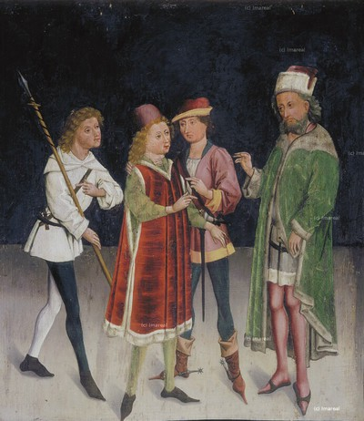 Jäger berichten dem Statthalter Agricola von der Auffindung des Hl. Blasius