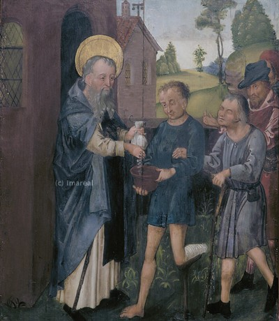 Hl. Antonius verschenkt sein Vermögen an die Armen