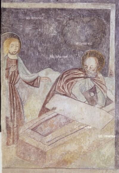 Hl. Petrus und Hl. Johannes Evangelist am Grab Christi
