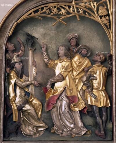Hl. Laurentius vor dem Kaiser Decius